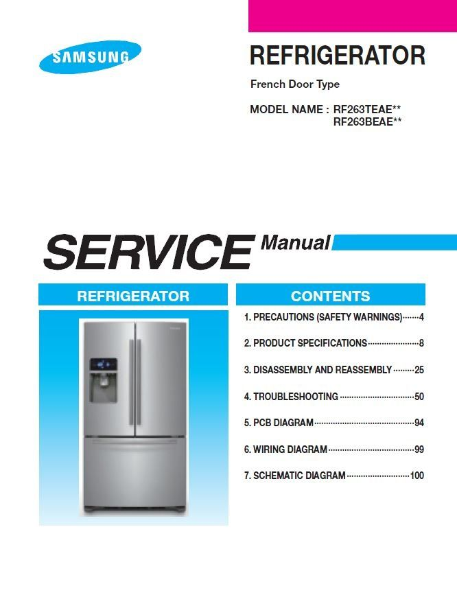 factory settings for a samsung french door refrigerator manual