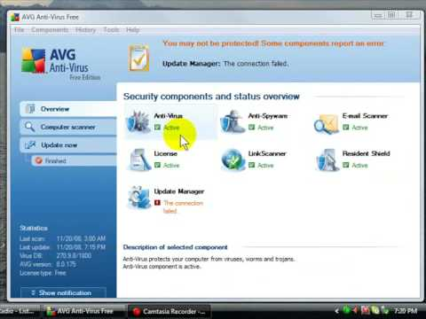 manually download avg update files